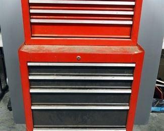 "Craftsman 2 Piece Home Tool Storage Tool Box On Wheels, 10 Drawers, 51.5"" x 27"" x 18"""