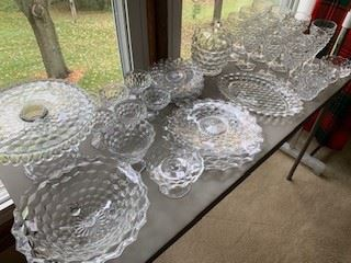 "Fostoria ""American Clear"" collection"