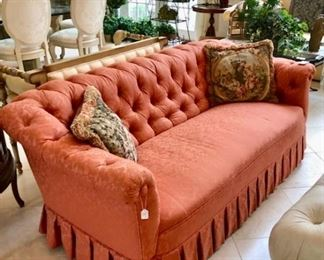 Antique Chesterfield Sofa (Reupholstered)