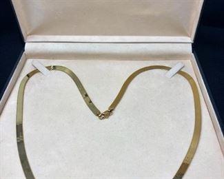 """14k Gold 24"""" Serpentine Chain https://ctbids.com/#!/description/share/258865"""