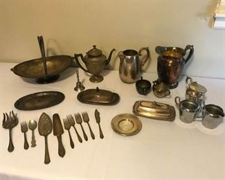 Plated and Pewter Pieces
