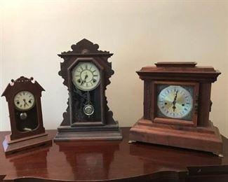 Three Mantle Clocks