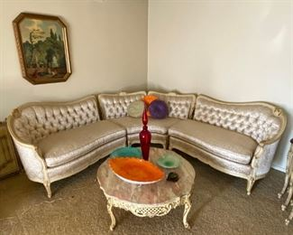 French revival sectional sofa