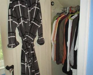 Closet of men's clothing