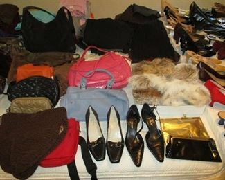 Purses and shoes, most are brand new and never been used