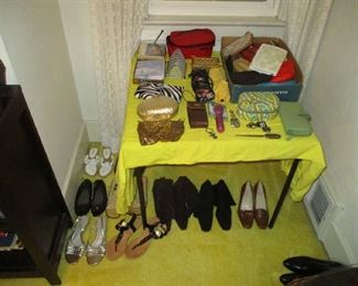 Women shoes and household items