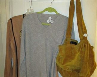 Woman's clothing and purse
