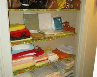 Towels, Linens and purses