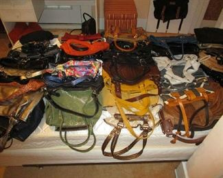 Purses, many brand new or hardly ever used