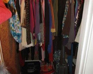 Closet of women's clothing