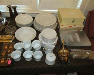 Set of china and household items
