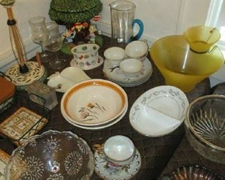 Glassware items and cookie jar