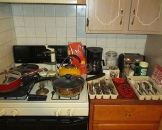 Pots, pans and kitchen items