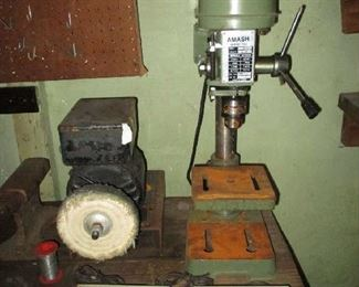 Drill press and polisher