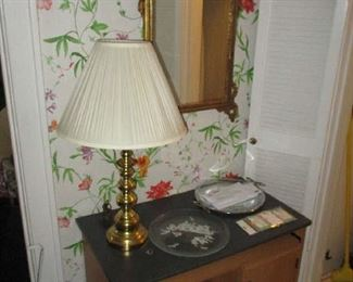Cabinet and table lamp