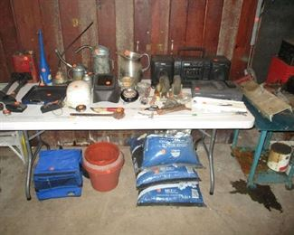 tools and garage items