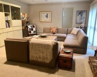 Vintage modernist modular sectional sofa