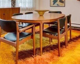 Vintage 1970's Rya rug