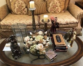 Knick knacks available only. Furniture unit sold.