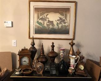 Picture and Knick knacks available only. Furniture unit sold.