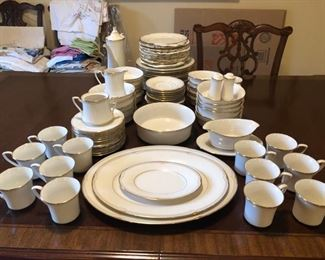 """Noritake """"Golden Cove"""" china, service for 12"""