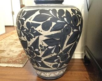 Large Handpainted Vase