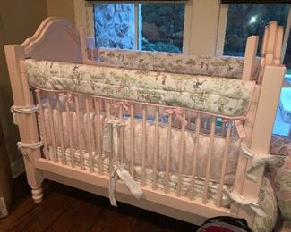 Newport Cottages Pink Crib & bedding