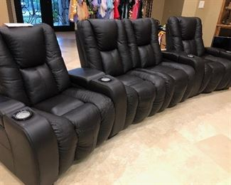 Nearly New Electric Leather Theater Seating