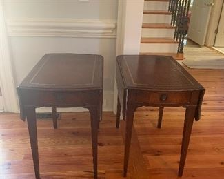 PAIR OF EXTRA NICE DROP LEAF END TABLES