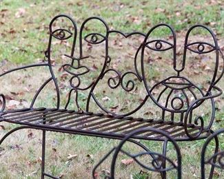 Very cool artist made John Risley style patio set