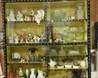 Asian China Cabinet with Mother of Pearl inlay offered by Susie's Key West Estate Sales