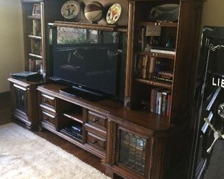 Gorgeous office cabinet for sale, TV for sale  - sports memorabilia not for sale