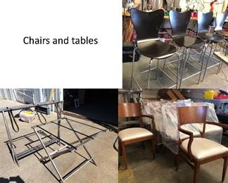chairs tables
