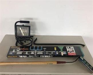 Work Light UltraTool Organizer Weed Cutter Crowbar