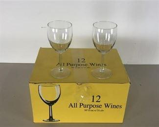12 All Purpose Wine Glasses