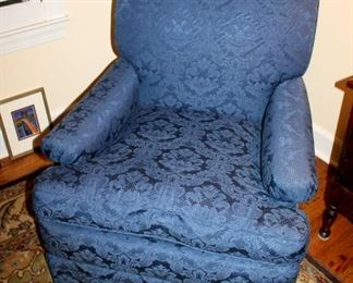 ONLINE AUCTION ITEM #9 - Blue upholstered armchair