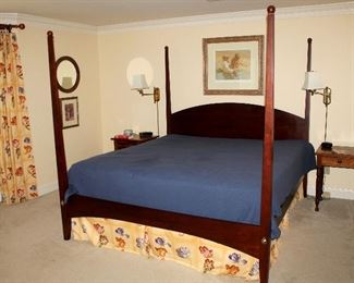 ONLINE AUCTION ITEM #11 - King size poster bed (frame only - no mattress)