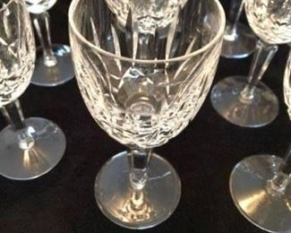 "ONLINE AUCTION ITEM #28 - Waterford Crystal ""Kildare"" wine glasses - 9 claret glasses and 2 white wine glasses"