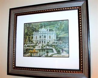 "ONLINE AUCTION ITEM #35 - Pair of Maurice Legendre Germany prints - each approximately 25"" x 22"" including frame."