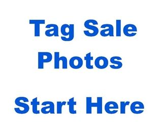 TAG SALE PHOTOS START HERE