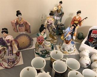 The Danbury Mint Lena Liu Asian princess figurines - all with COAs