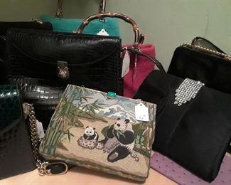 Italian and designer handbags. More not shown.