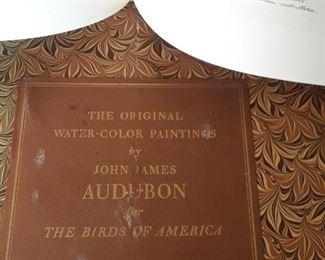 Two volumn Audubon books in original slip case. 1963.