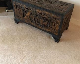 Carved Asian chest