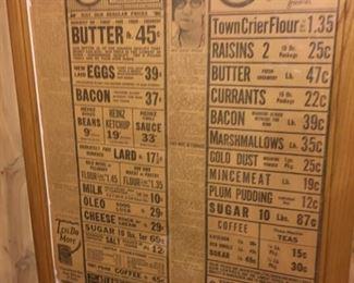 Original Antique A&P Grocery Framed Advertisement