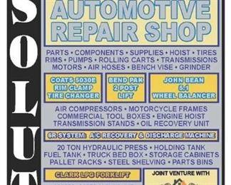 October 25th 2019 Mechanic Shop Auction