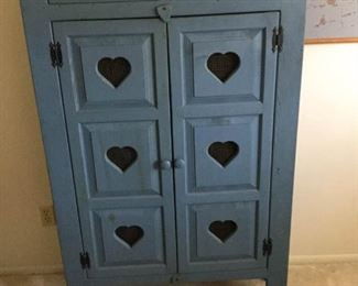 Blue Wood Cabinet https://ctbids.com/#!/description/share/259253