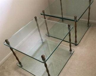 Two Glass End Tables https://ctbids.com/#!/description/share/259254