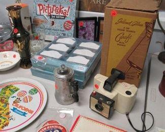 kitchen items, games, disneyland tray