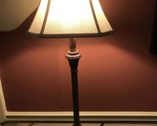 """30"""" Decorative tall table lamp with shade (works)"""